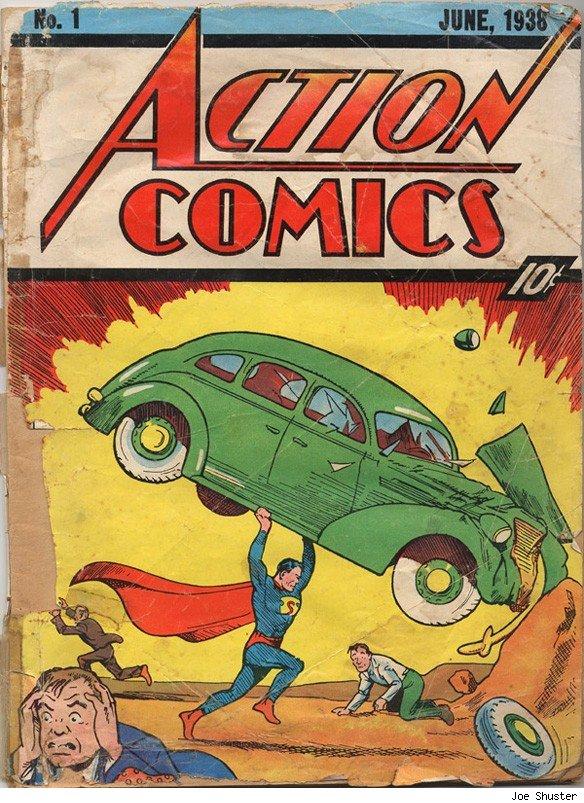 Carátula de Action Comics número 1