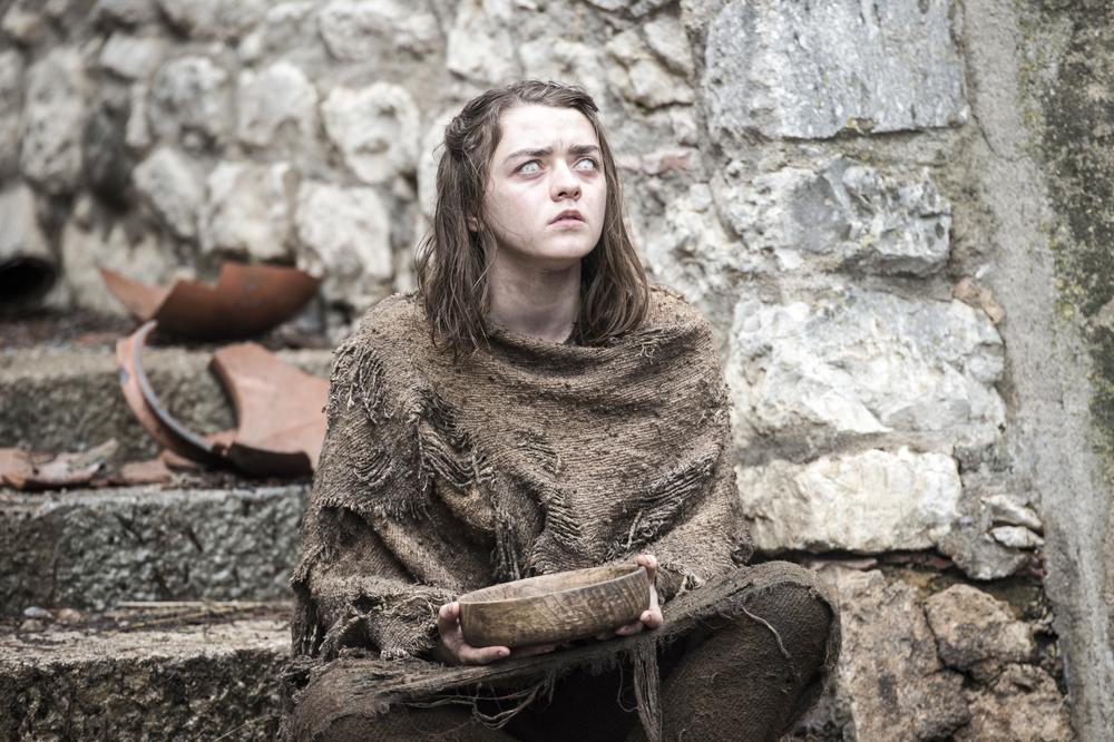 Arya Stark en la 6ta temporada de Game of Thrones