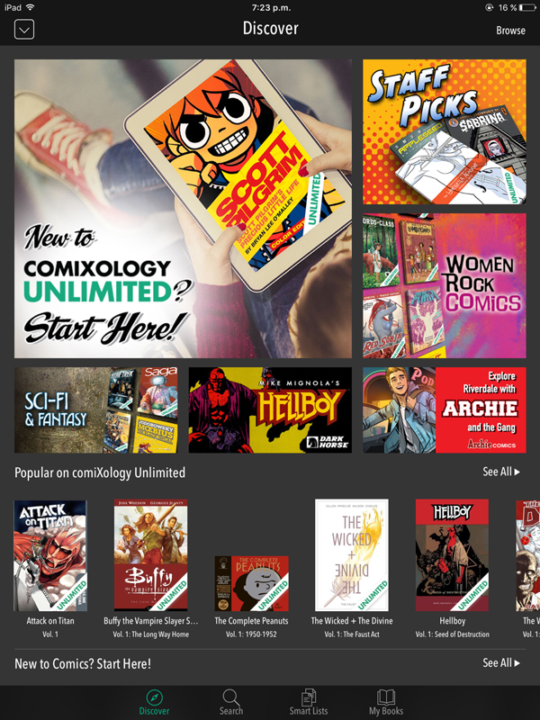 Marvel Unlimited y Comixology