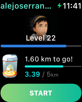 Pokémon Go en el Apple Watch