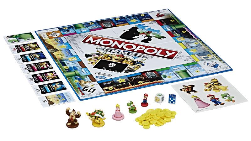 Tablero y componentes de Monopoly Gamer