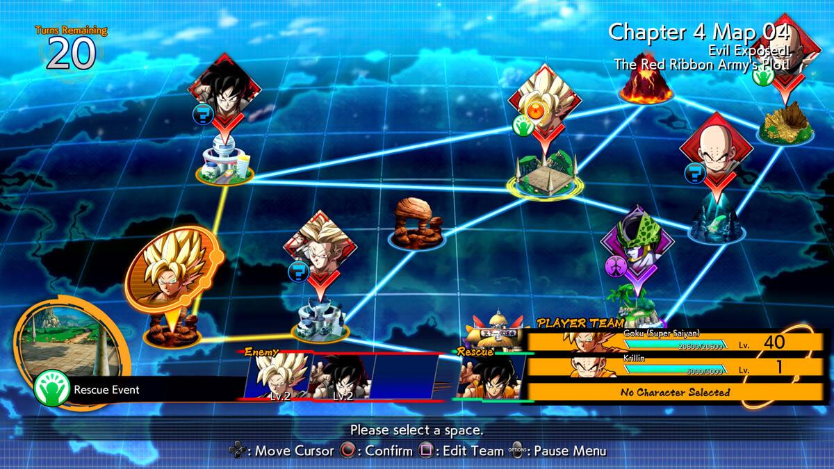 Dragon Ball FighterZ - Mapa