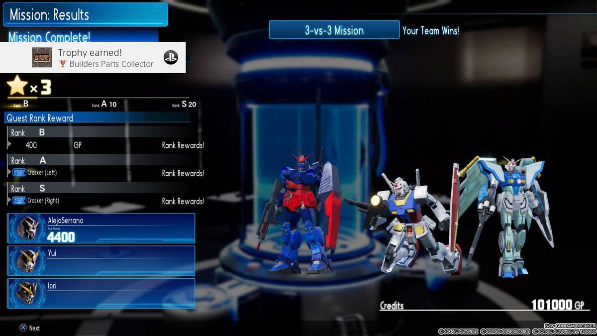 Parts Collector - New Gundam Breaker