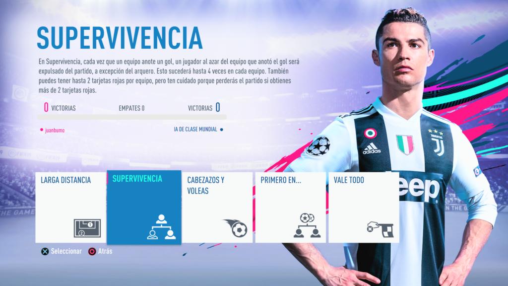 El modo recocha de FIFA 19.
