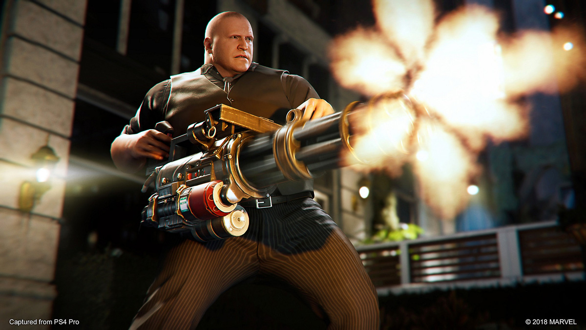 Spider-Man: The Heist thug with Gatling Gun