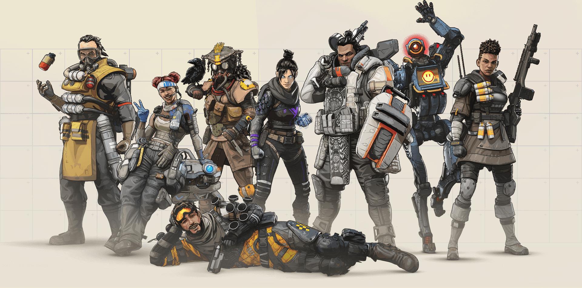 Apex Legends - Grupo de Personajes Jugables