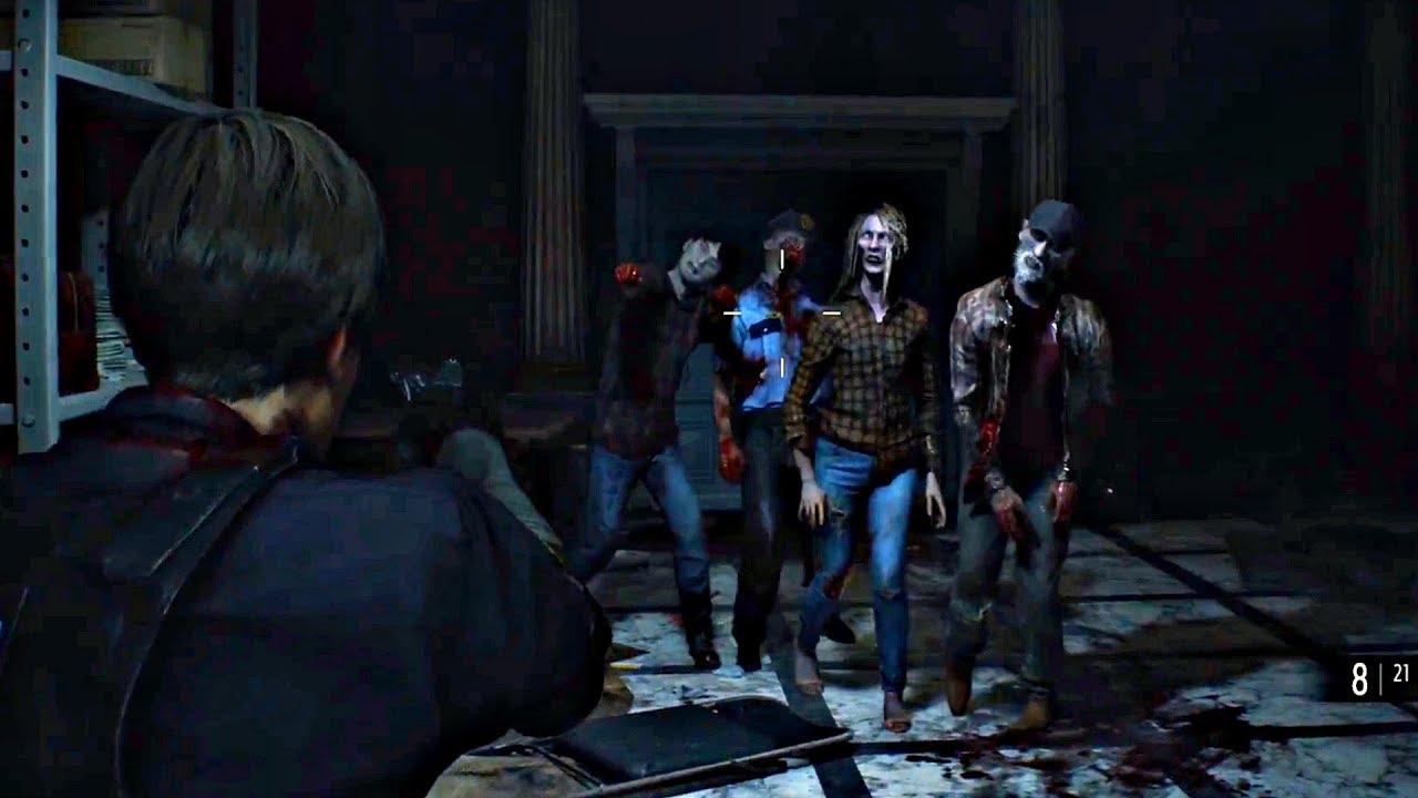 Resident Evil 2 Remake - Dispárale a los zombies!