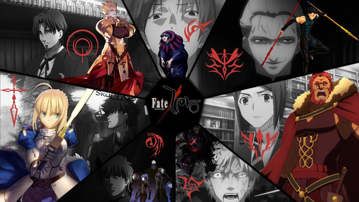 Fate Zero - Los Amos (en blanco y negro) y sus Sirvientes (a color)