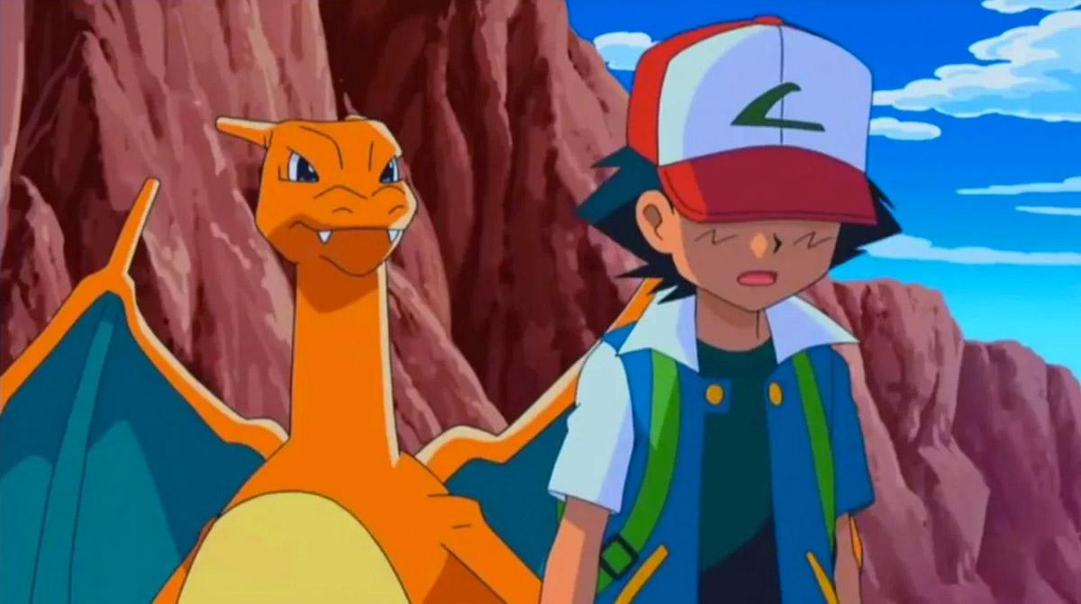Ash Ketchum y Charizard - Pokémon