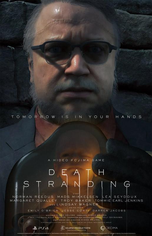 Death Stranding - Poster con Guillermo del Toro