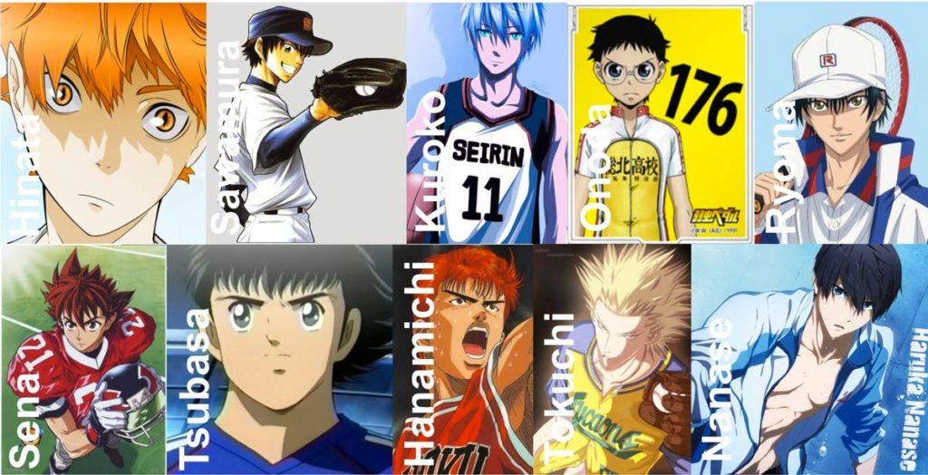Diferentes personajes de anime, pero con una característica en común, son genios en su deporte.