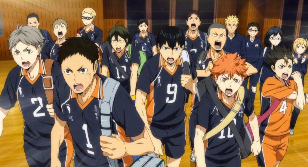 El equipo completo de la Escuela Karasuno.