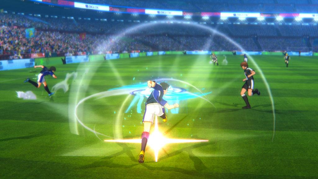 Tsubasa se enfoca más en espectacular acción tipo anime que en la simulación precisa del fútbol