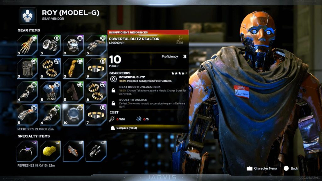 ¡Extraído directamente de Destiny, un vendedor de armaduras robótico!