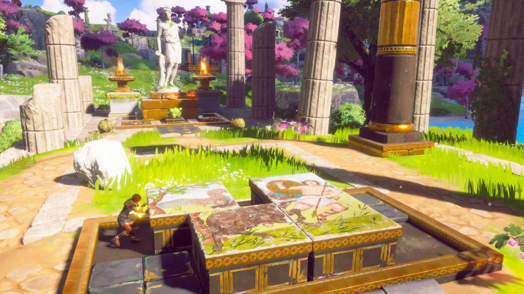 Immortals: Fenyx Rising está lleno de puzzles.