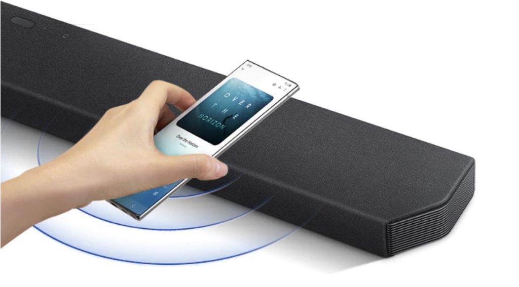Barras de Sonido Samsung, conexión con Smartphone.